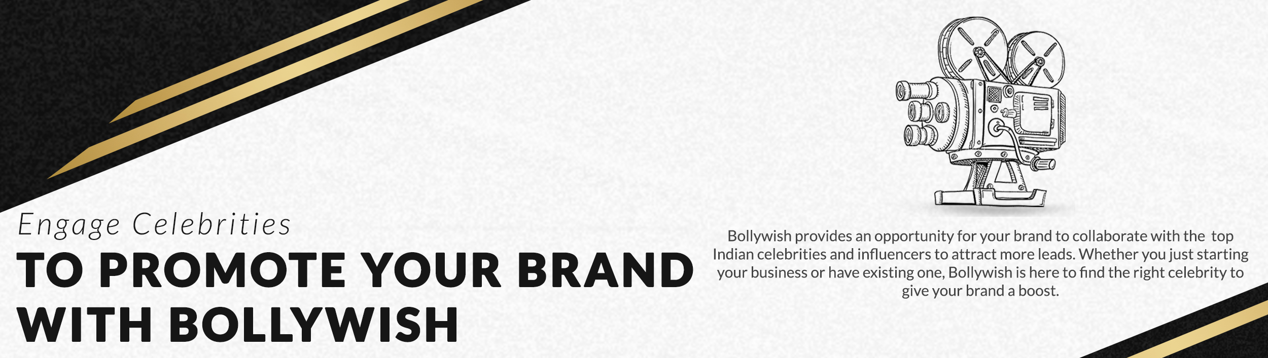 Promote your brand with Bollywish